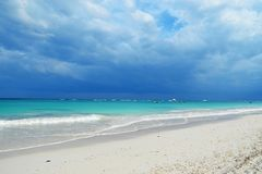 Tulum beach. At Tulum beach before the storm, Mexico stock photos
