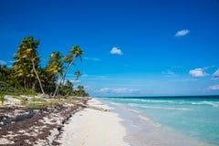 Tulum beach view, caribbean paradise, at Quintana Roo, Mexico. Royalty Free Stock Photos