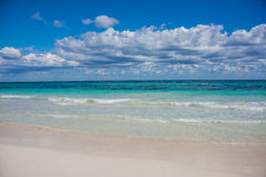 Tulum beach view, caribbean paradise, at Quintana Roo, Mexico. Stock Photo