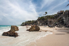 Tulum Beach Yucatan Mexico Royalty Free Stock Photography