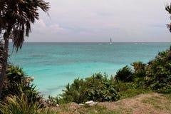 Tulum Beach Yucatan Mexico Stock Image