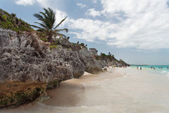 Tulum Beach Yucatan Mexico Stock Images