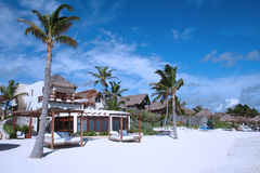 tulum cancun Мексики пляжа залива Стоковое Изображение RF