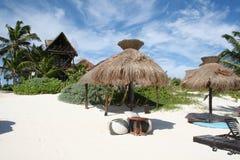 tulum cancun Мексики пляжа залива Стоковое Изображение