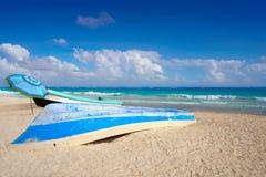 Tulum Caraïbisch strand in Riviera Maya royalty-vrije stock afbeelding