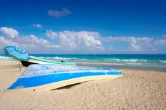 Tulum Caribbean beach in Riviera Maya royalty free stock image
