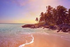 Tulum Caribbean beach in Riviera Maya. Tulum Caribbean turquoise beach in Riviera Maya of Mayan Mexico stock images