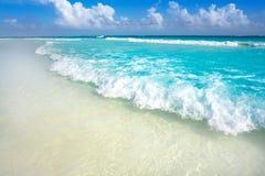 Tulum Caribbean beach in Riviera Maya. Tulum Caribbean turquoise beach in Riviera Maya of Mayan Mexico royalty free stock photo