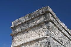 Tulum Castillo ściany fotografia royalty free