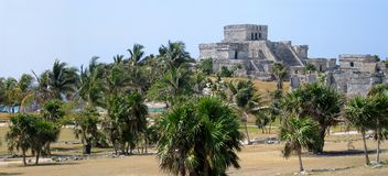 Tulum castle in the Yucatan in Mexico Stock Images