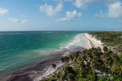 Tulum coast Royalty Free Stock Photo