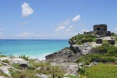 Tulum del maya del Riviera Fotografia Stock Libera da Diritti