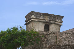 Tulum detail of Temple of the Descending God Stock Images