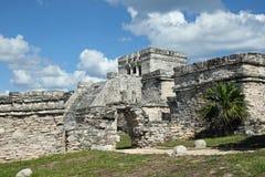 Tulum-El Castillo Royalty Free Stock Photos