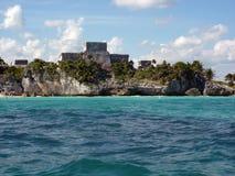 Tulum El Castillo Immagini Stock Libere da Diritti