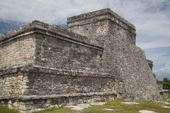 Tulum - El Castillo. The side which is turned to the sea Royalty Free Stock Photos