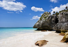 tulum för strandmexico paradis Royaltyfri Bild