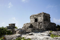 Tulum fördärvar, Tulum Mexico1 Royaltyfri Bild