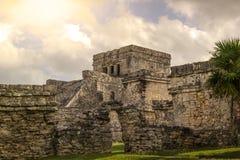 Tulum forntida Maya Archeological Site i Yucatan Mexico Arkivfoto