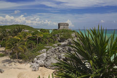 Tulum - God of Winds Temple. Tulum - the temple of the god of the winds stock photography
