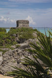 Tulum - God of Winds Temple. Tulum - the temple of the god of the winds Stock Image