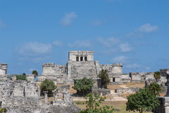 Tulum - Historic Mayan ruins in Mexico Royalty Free Stock Photos