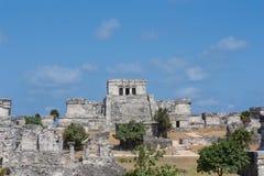Tulum - Historic Mayan ruins in Mexico. Tulum - Mayan ruins in Mexico, Riviera Maya royalty free stock photos