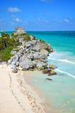 Tulum Küstenlinie, Mexiko Lizenzfreie Stockfotos