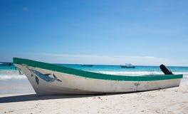 Tulum karibisk strand Mexico royaltyfri foto