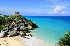Tulum, maya di Riviera, Messico Fotografie Stock