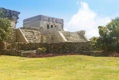 Tulum Maya ruins temple stock image