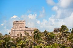 Tulum maya ruins yucatan peninsula,  Mexico. Stock Photography