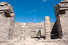 Tulum maya ruins yucatan peninsula,  Mexico. Royalty Free Stock Photography