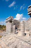 Tulum maya ruins yucatan peninsula,  Mexico. Royalty Free Stock Images
