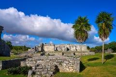 Tulum Mayan city ruins in Riviera Maya. At the Caribbean of Mayan Mexico stock photography