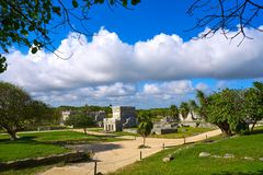 Tulum Mayan city ruins in Riviera Maya Stock Images