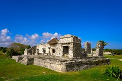 Tulum Mayan city ruins in Riviera Maya Royalty Free Stock Photos