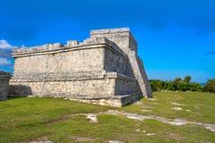 Tulum Mayan city ruins in Riviera Maya. At the Caribbean of Mayan Mexico stock photo