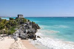 Tulum Mayan Ruin Stock Photography