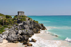 Tulum Mayan Ruins. In Mexico Tourist Destination Stock Images