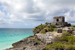 Tulum Mayan Ruins. Tulum Mayan Ruins by the sea. Yucatan, Mexico Stock Photos