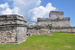 Tulum Mayan Ruins. In Mexico Royalty Free Stock Photos