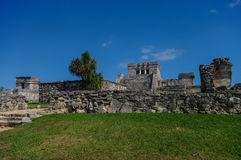 Tulum, Mayan Ruins Besides Caribbean Sea. Riviera Maya, Traveling America Stock Image