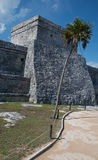 Tulum Mayan Ruins - Castillo / Temple of the Diving God and Temple of the Initial Series Stock Photography