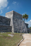 Tulum Mayan Ruins - Castillo / Temple of the Diving God and Temple of the Initial Series Stock Image