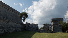 Tulum Mayan Ruins - Castillo / Temple of the Diving God in Tulum Mexico Royalty Free Stock Photo