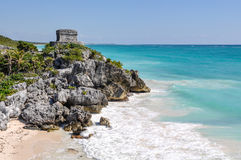 Tulum Mayan Ruins. In Mexico Royalty Free Stock Photo