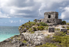 Tulum Mayan Ruins. Tulum Mayan Ruins by the sea. Yucatan, Mexico Royalty Free Stock Photo
