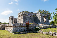 Tulum Mayan Ruins. South of Playa Del Carmen on the Yucatan Peninsula Royalty Free Stock Photography