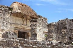 Tulum mayan ruins at yucatan peninsula Royalty Free Stock Images